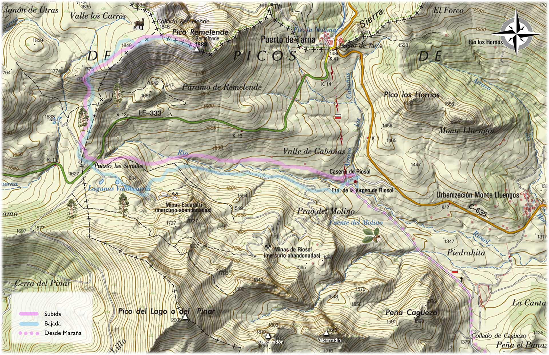 Mapa Remelende