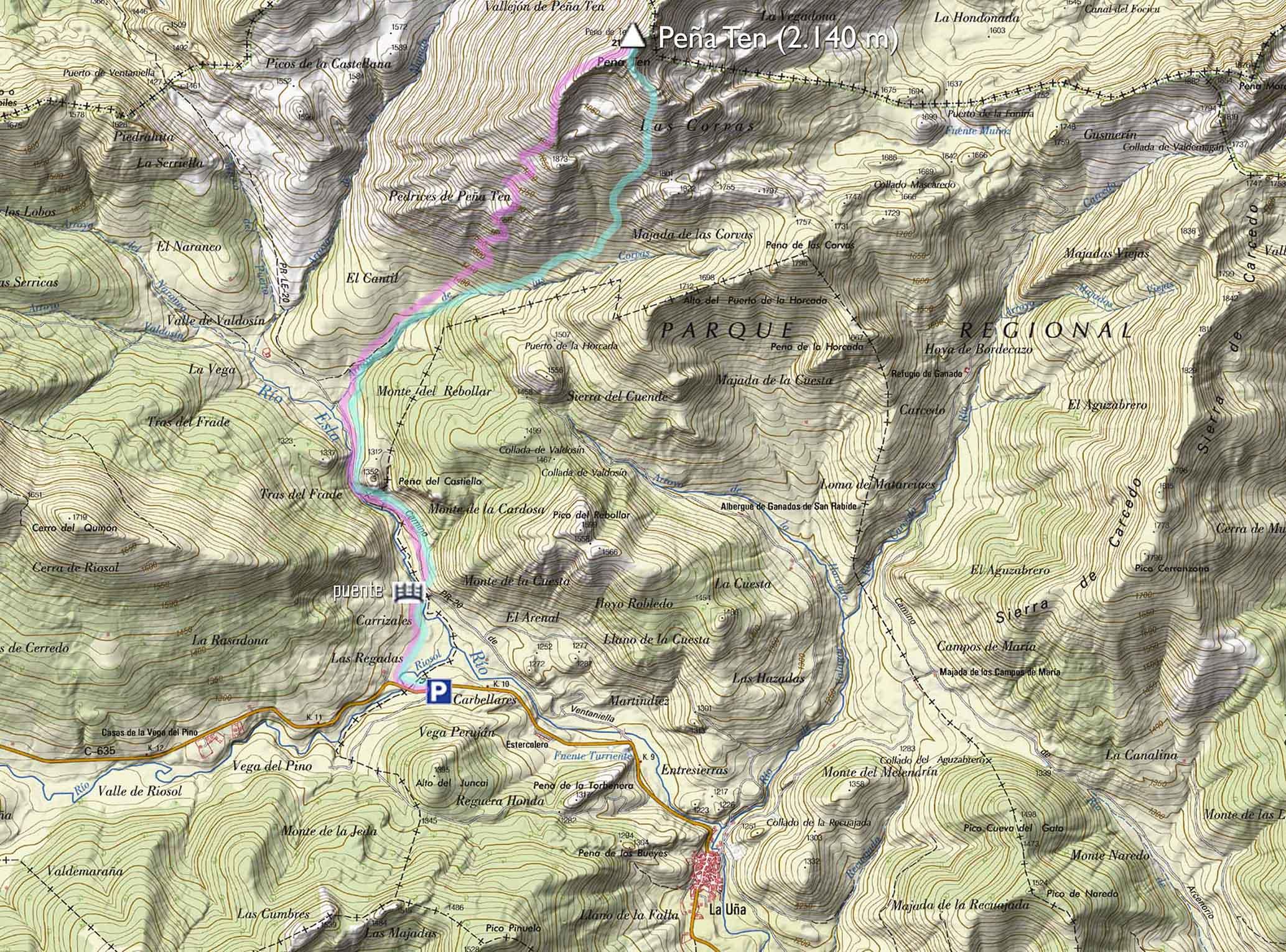 Mapa Peña Ten